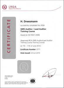 LRQA certificate